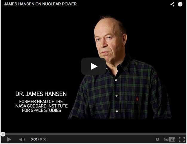 Jame Hansen on Nuclear energy